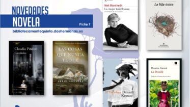 Biblioteca de Montequinto: novedades literarias 2021 - (Novela - Ficha 7)
